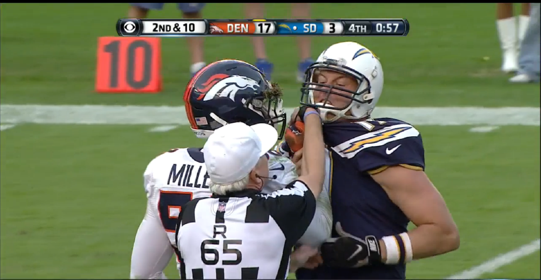 Broncos defense continues to own Chargers Philip Rivers